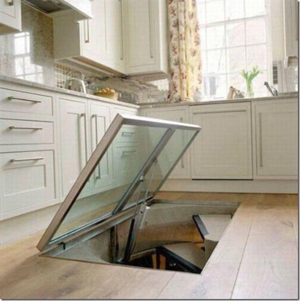 Uma sala especial embaixo da cozinha