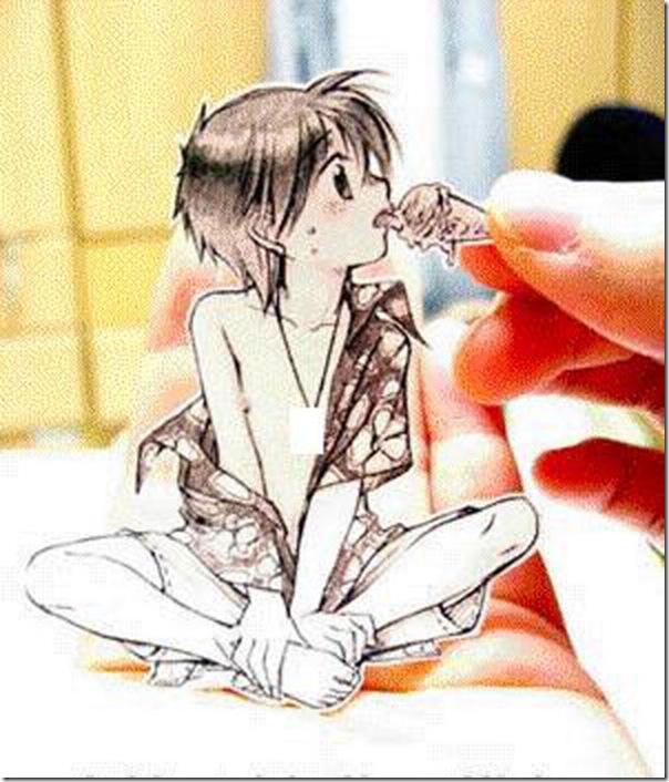 Personagens animados de cortes em papel (3)