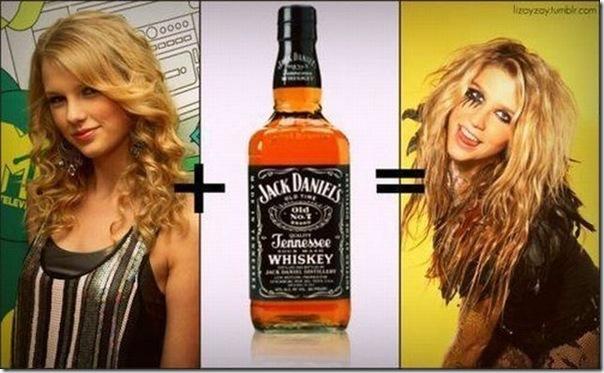 Sua visão depois de uma garrafa de Jack Daniels