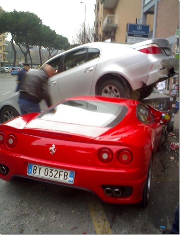 Ferrari destruida