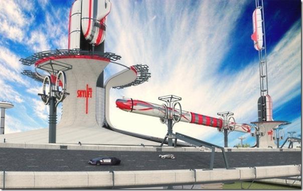 Ilustrações de transportes futuristas (2)