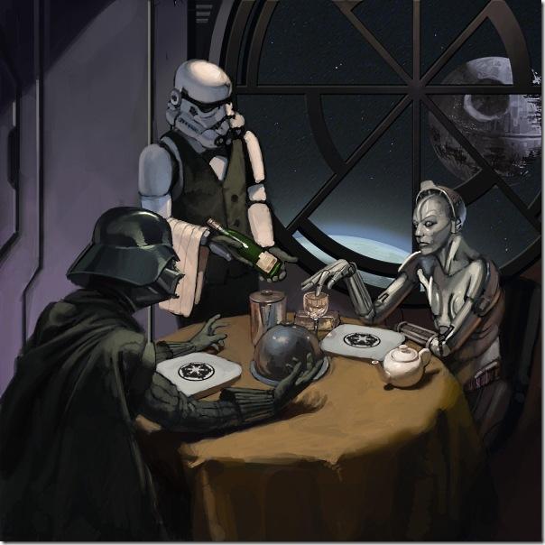 Jantar romântico com Darth Vader