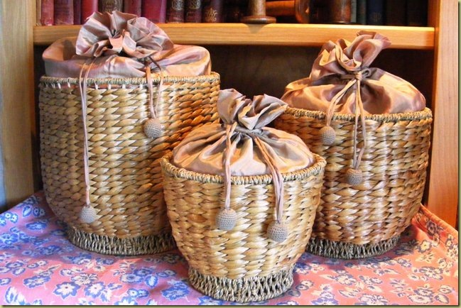Silk Lined Baskets