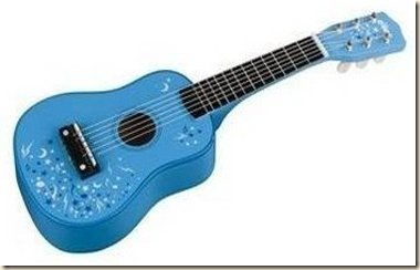 blue toy guitar 2