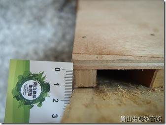 以1.8cm的空隙作為蝙蝠進出的洞
