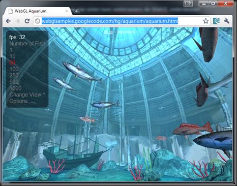 WebGL Aquarium