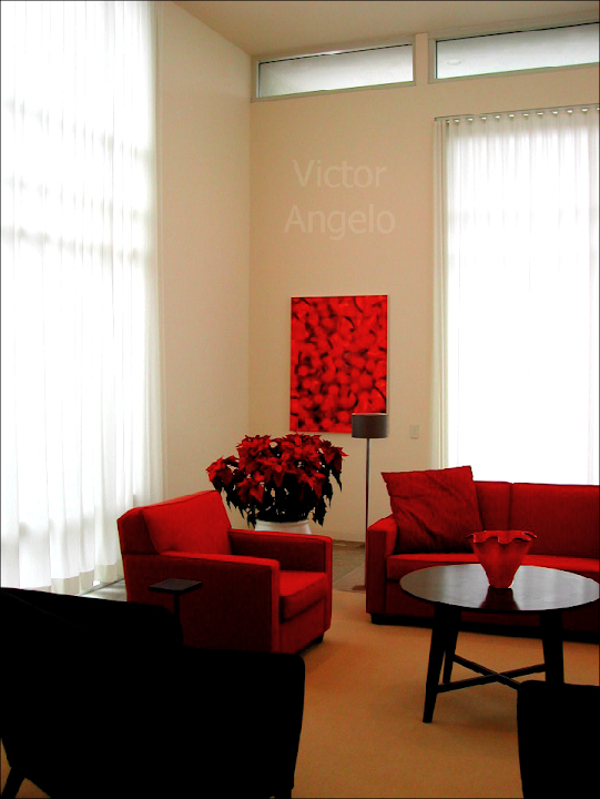 Victor Angelo red interior design