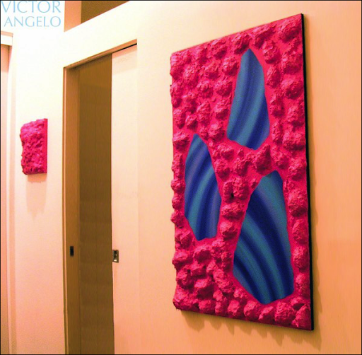 Victor Angelo three dimensional pink paintings