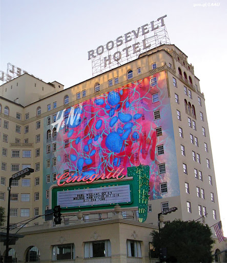 Victor Angelo circuit painting projection Roosevelt Hotel Hollywood Cinegrill