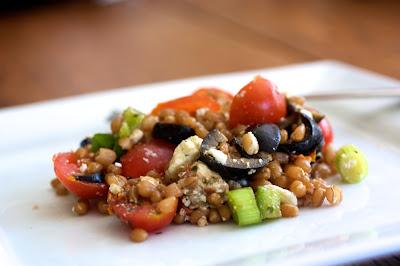 Greek Wheat Berry Salad | Naturally Ella