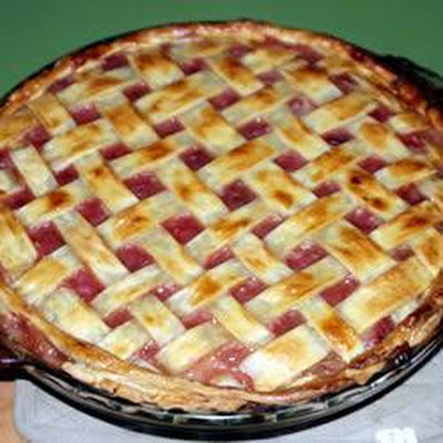 Fast Apple Rhubarb Pie
