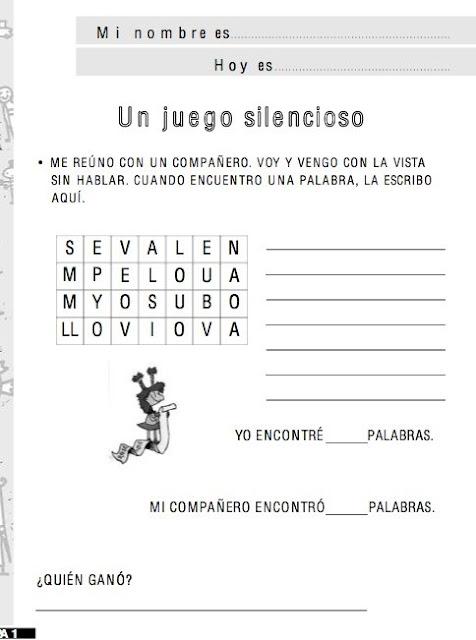 APRENDER ACTIVIDADES DE JUEGOS DE PALABRAS