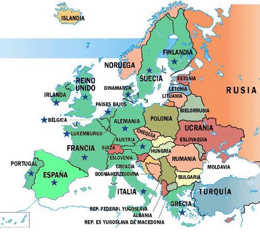 colorear y aprender mapas de europa para imprimir