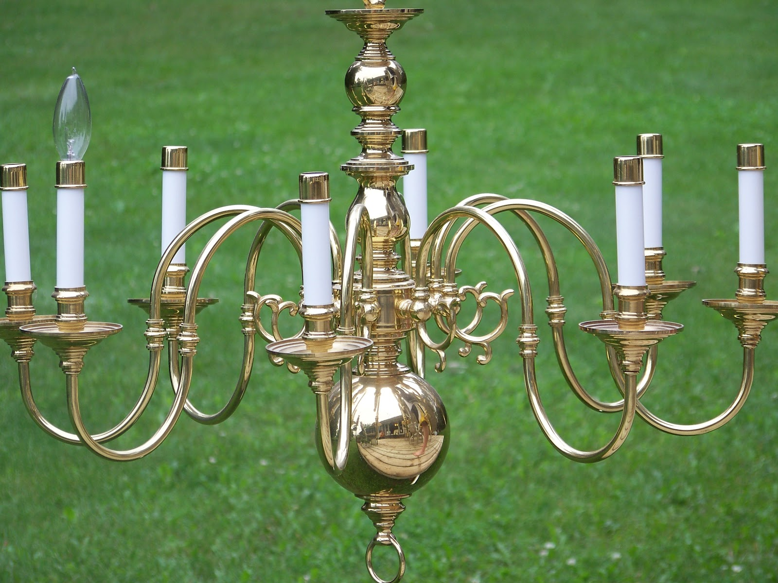 Yard Sale Chandelier Makeover