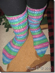 Finished Socks Scrunched