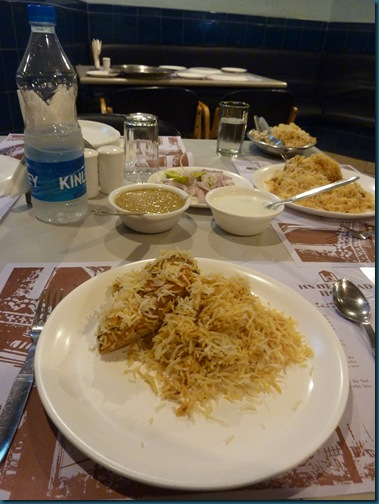 Biryani deal at Hyderabad House