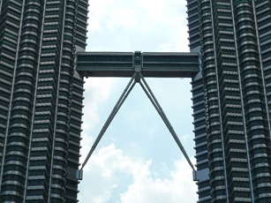 Bridge connecting the twin towers in KL