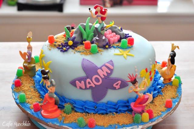 Cafe Munchkin The Little Mermaid Birthday Cake
