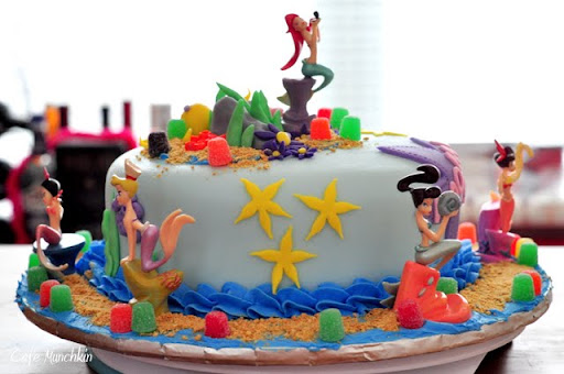 Dengan women you should think of making a birthday cake little mermaid too