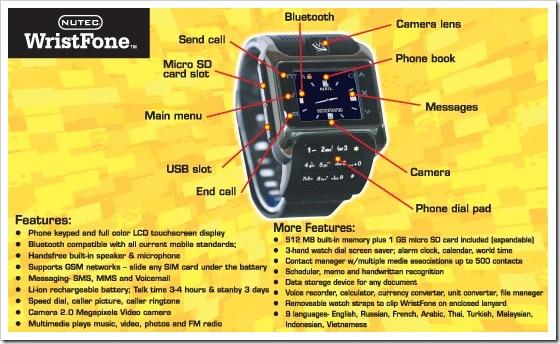 Nutec WristFone