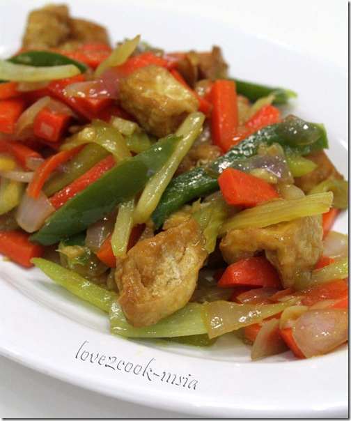 ... ♥: ♥...Chinese Celery with Carrot & Bean Curd Stir Fry