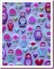 Accessorize Russian Doll stickers