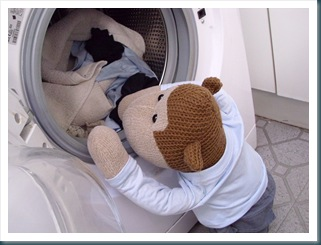 Monkey doing the washing