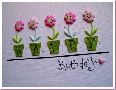 Birthday Flower Pots Close Up
