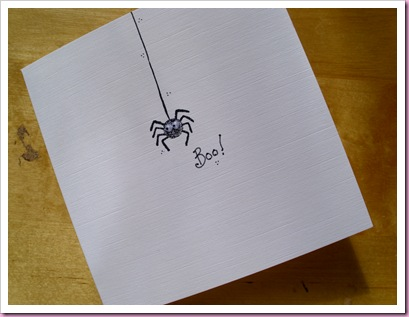 Boo Spider card