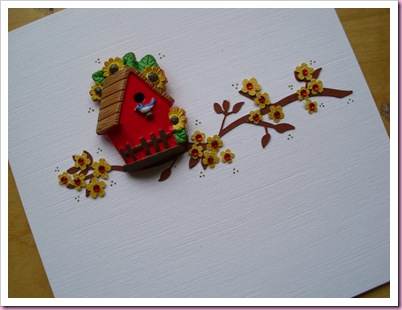 A Birdhouse Card