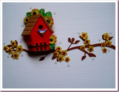 Red Birdhouse Card