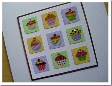 Patchwork Cake Card