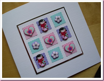 Patchwork Giesha Girl Card