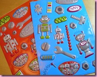 Poundland Robot Stickers