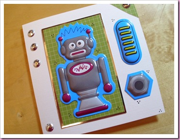 Blue Robot Card