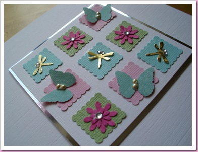 Close Up of Butterfly patchwork Card