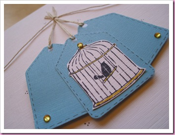 Stampin Up Bird in a Cage Card