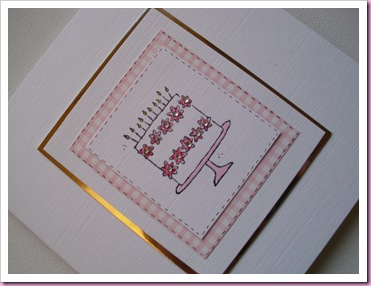 Stampin Up Birthday cake