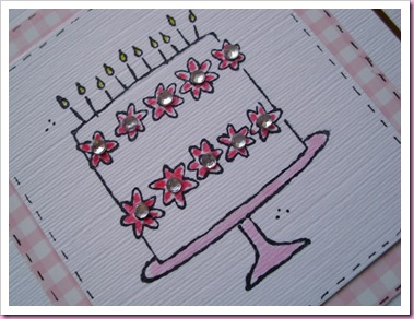 Stampin Up Birthday Cake Card