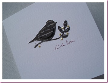 Stampin Up Bird on a Branch Card