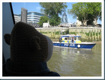 Monkey and police boat