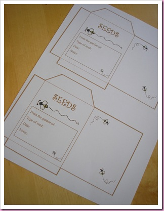 Seed packet template