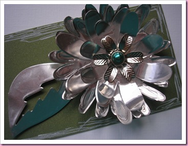 Foil Flower using sizzix die