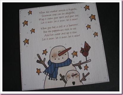 Snowman Soup Card