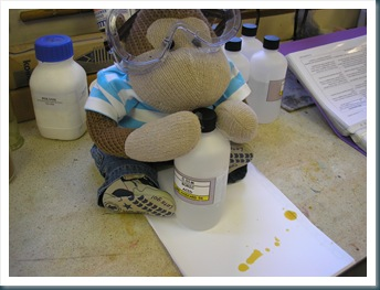 Monkey with chemicals