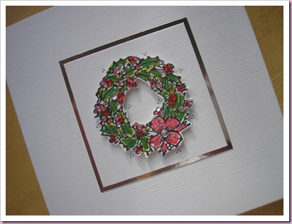 Christmas Wreath Card 1