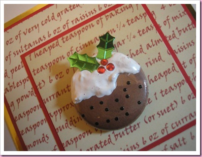 Christmas pudding Close Up
