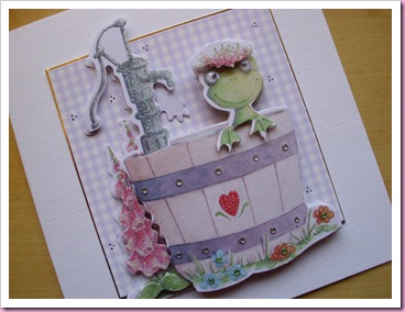 frog in a well decoupage card