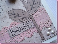 Close Up of Punched  Birthday Card