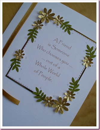 Gold and White Flower Card 1